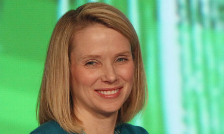 Marissa Meyer today. The lesson? Even 2 months of motherhood will wear you down.